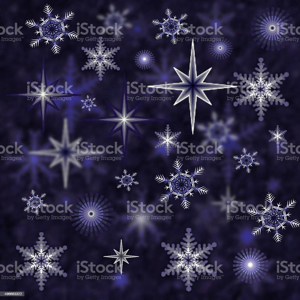 Blue gradient holiday Background vector art illustration