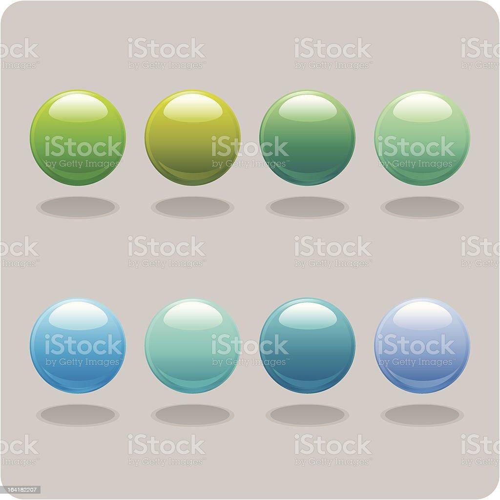 Blue & Green Orbs vector art illustration