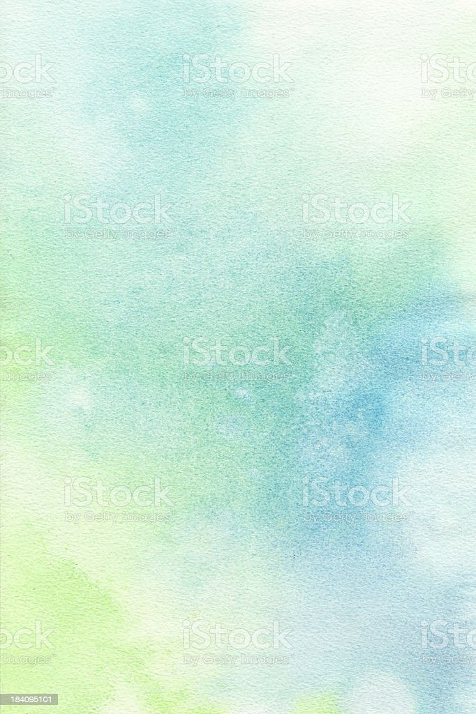 Blue Green Pastel Background  Watercolor Paint vector art illustration