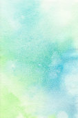 Blue Green Pastel Background  Watercolor Paint