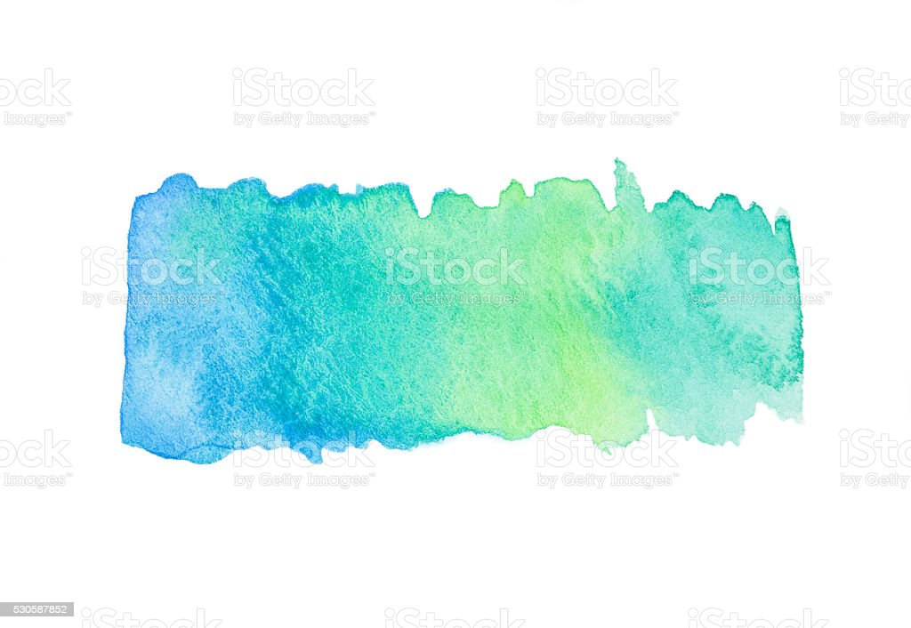 Blue Green Watercolor Gradient Splash stock photo