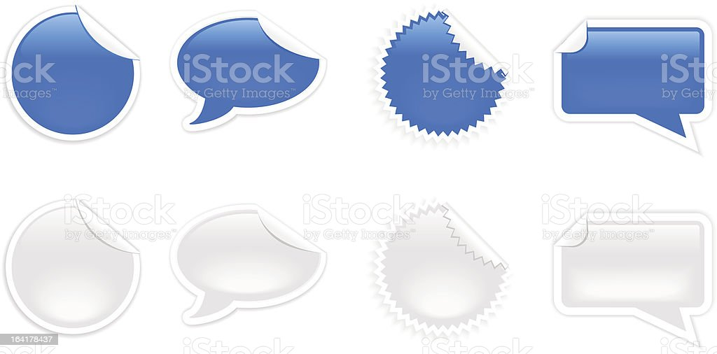 Blue grey stickers royalty-free stock vector art