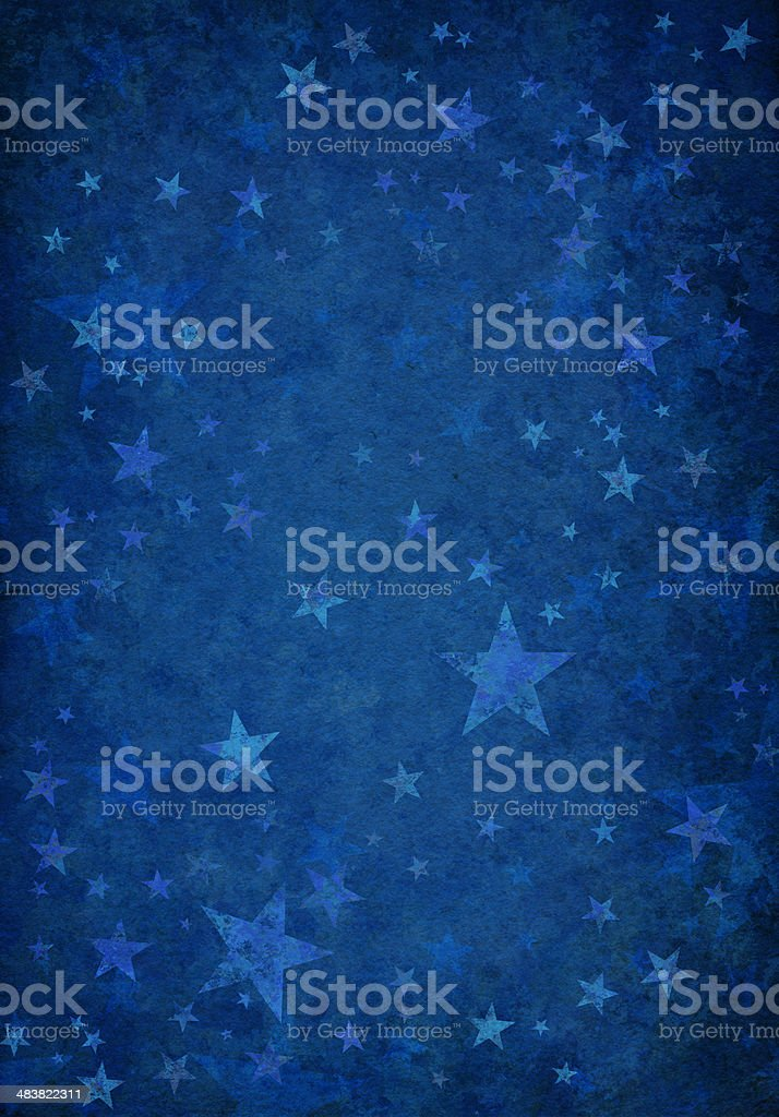 blue grunge background with stars royalty-free stock vector art
