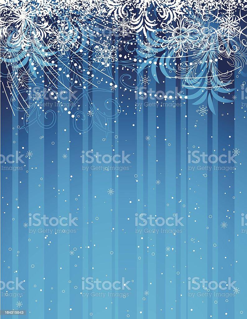 blue grunge christmas background royalty-free stock vector art