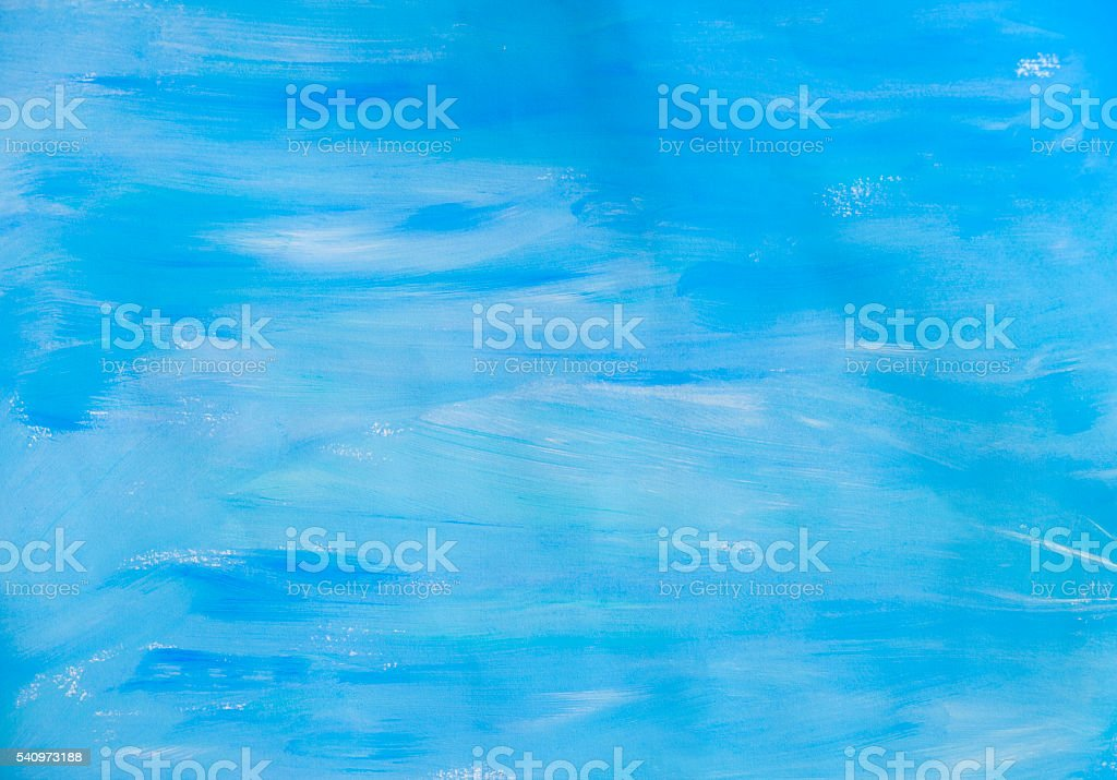 Blue hand painted background vector art illustration