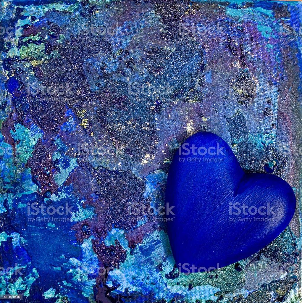 Blue heart royalty-free stock vector art