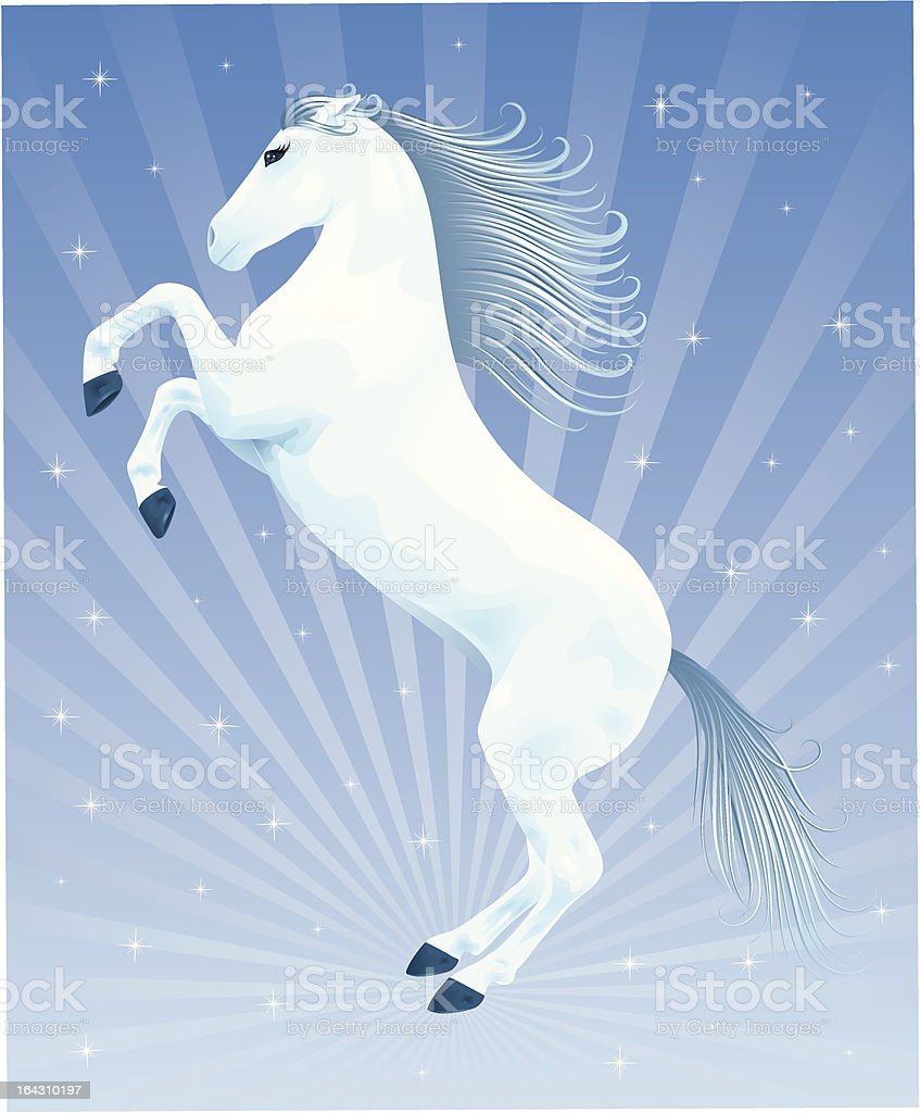 Blue horse. royalty-free stock vector art