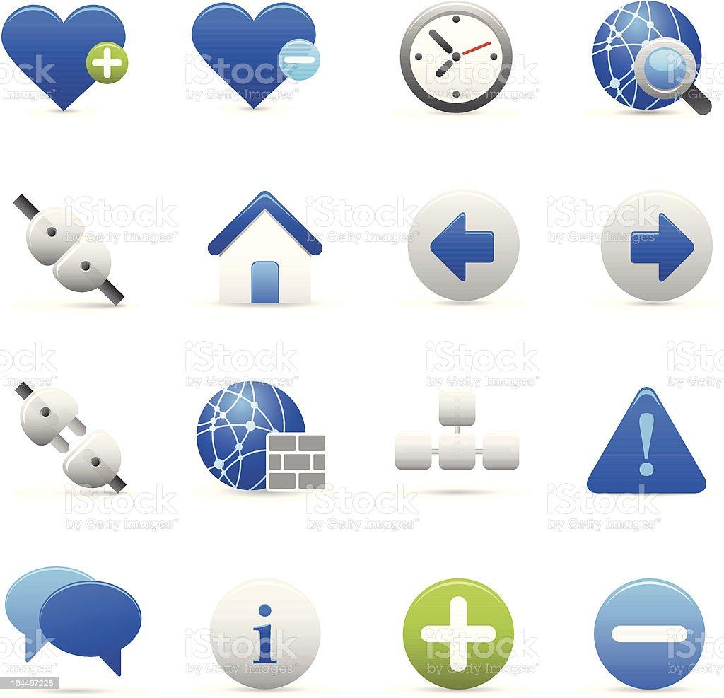 Blue Internet Ikony I stockowa ilustracja wektorowa royalty-free