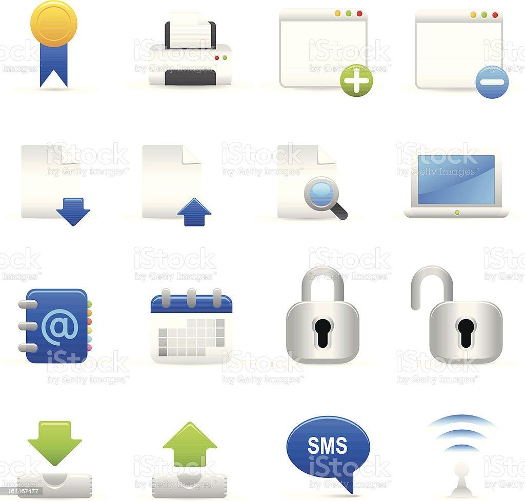 Blue Internet ikony II stockowa ilustracja wektorowa royalty-free