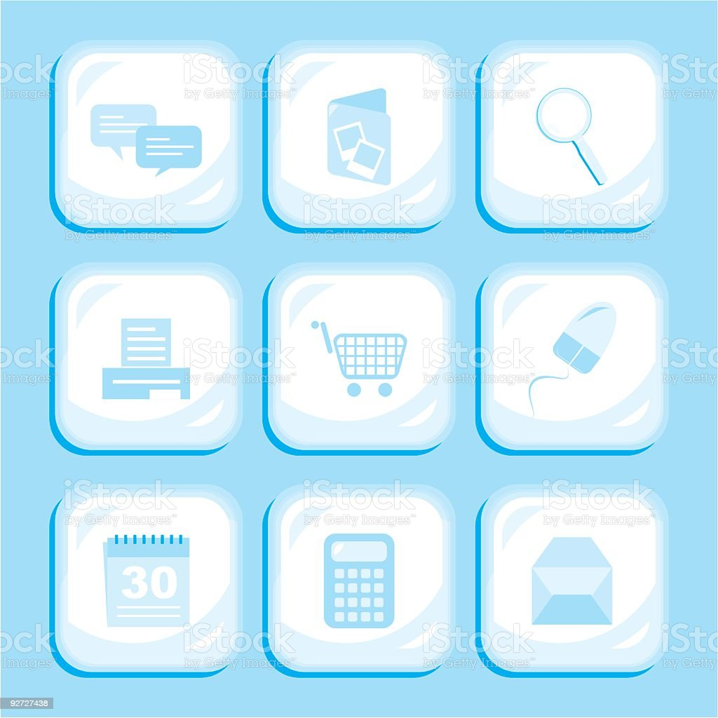 Blue Internet Icons royalty-free stock vector art