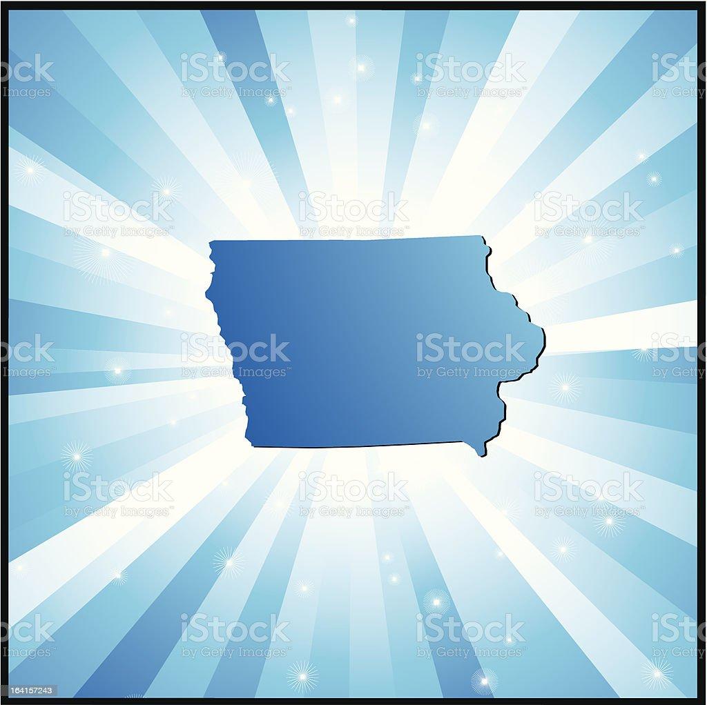 Blue Iowa royalty-free stock vector art