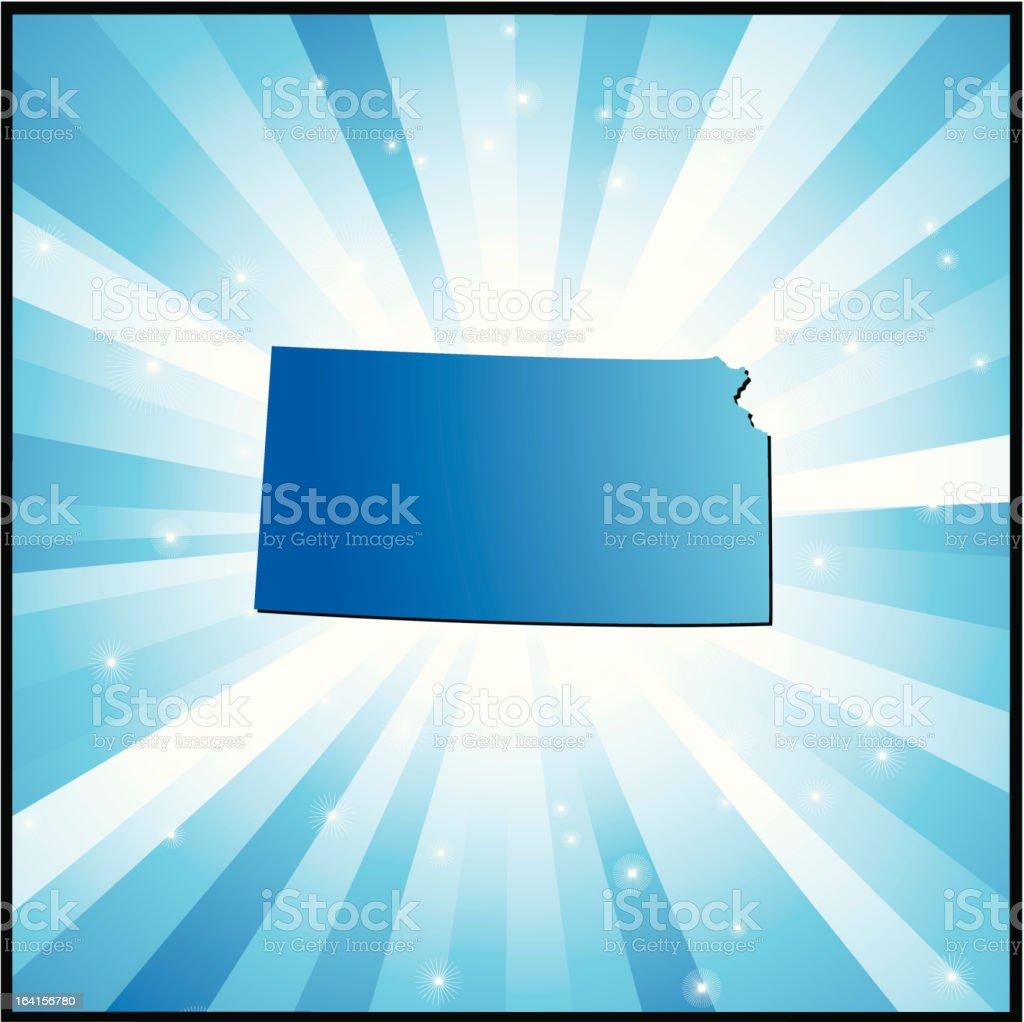 Blue Kansas royalty-free stock vector art