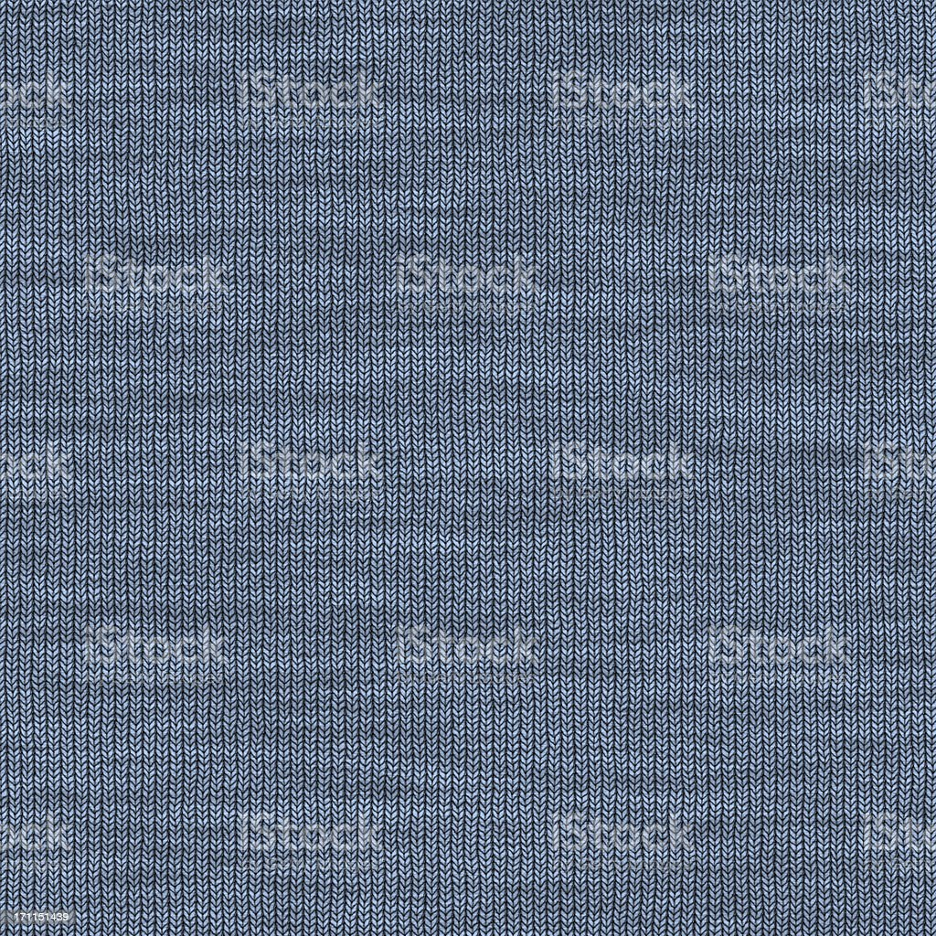 Blue Knitted Fabric vector art illustration