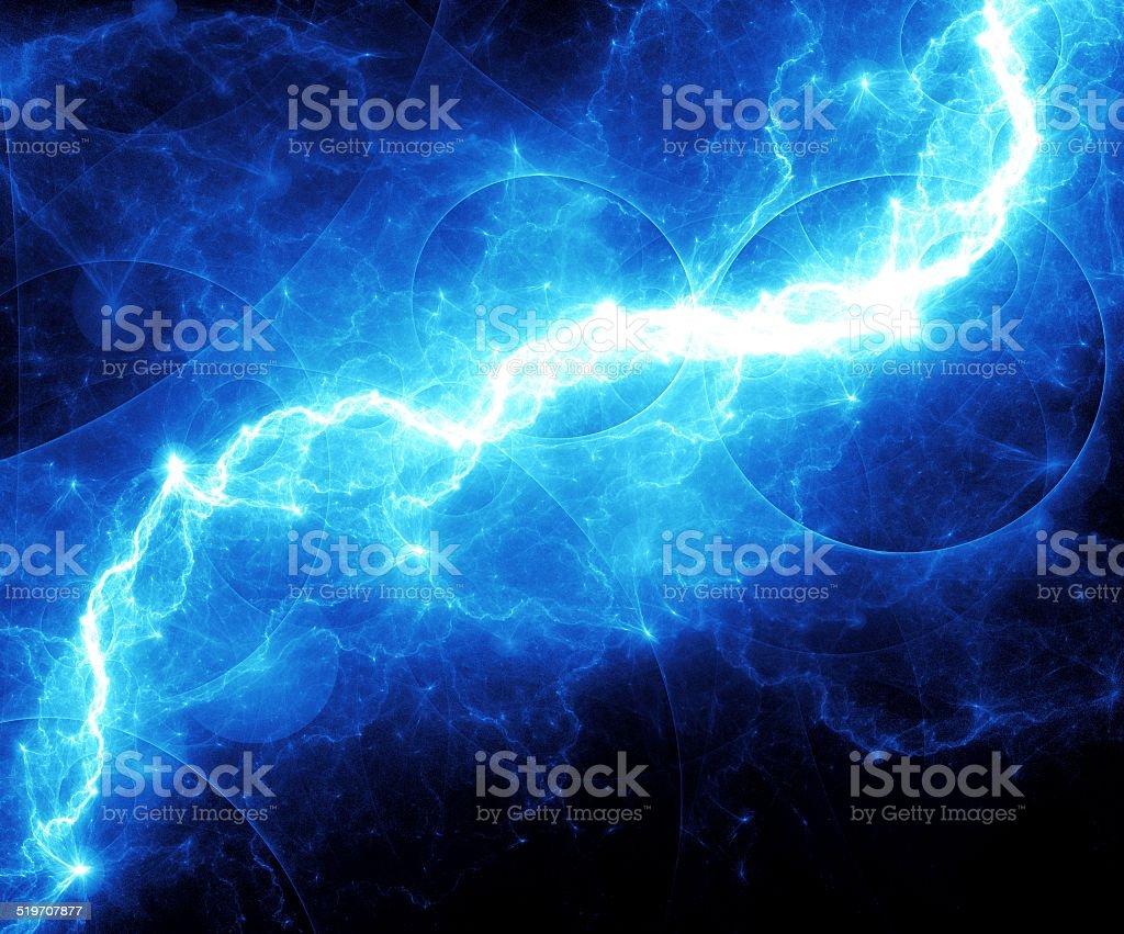 Blue lightnig vector art illustration