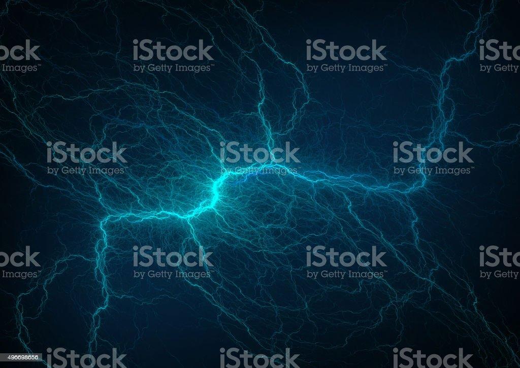 blue lightning vector art illustration