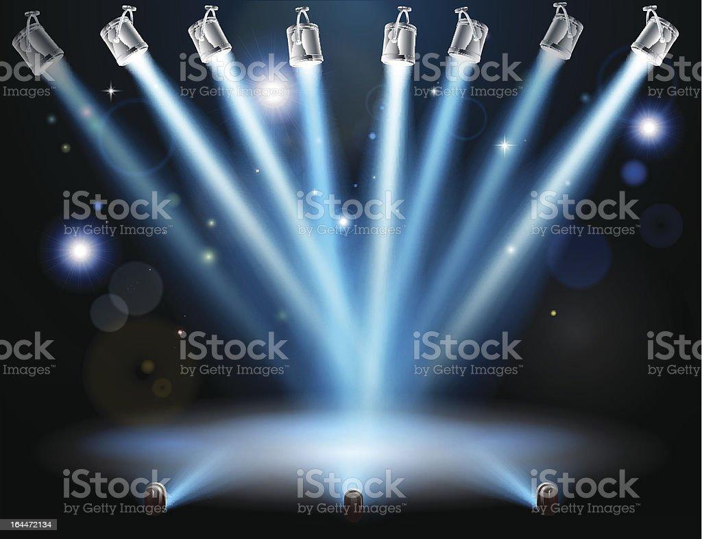 Blue lights concept vector art illustration