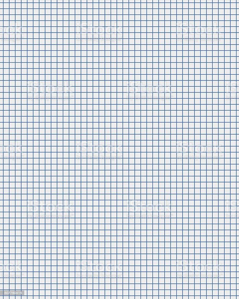blue line white graph paper vector art illustration