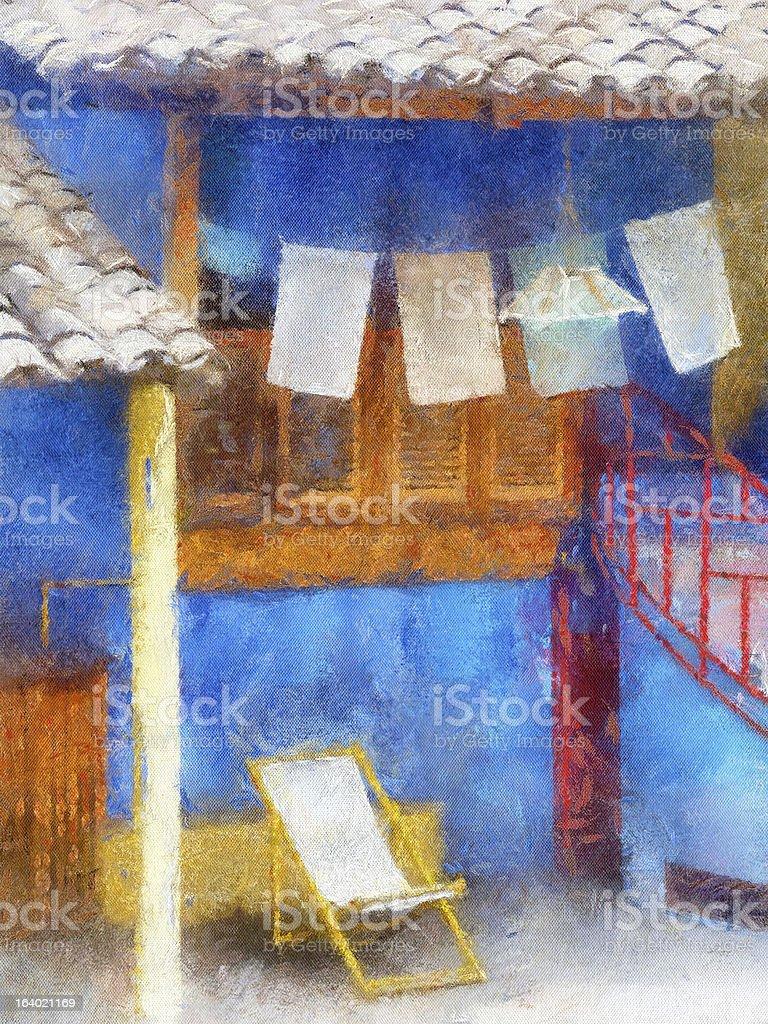 Blue mood vector art illustration