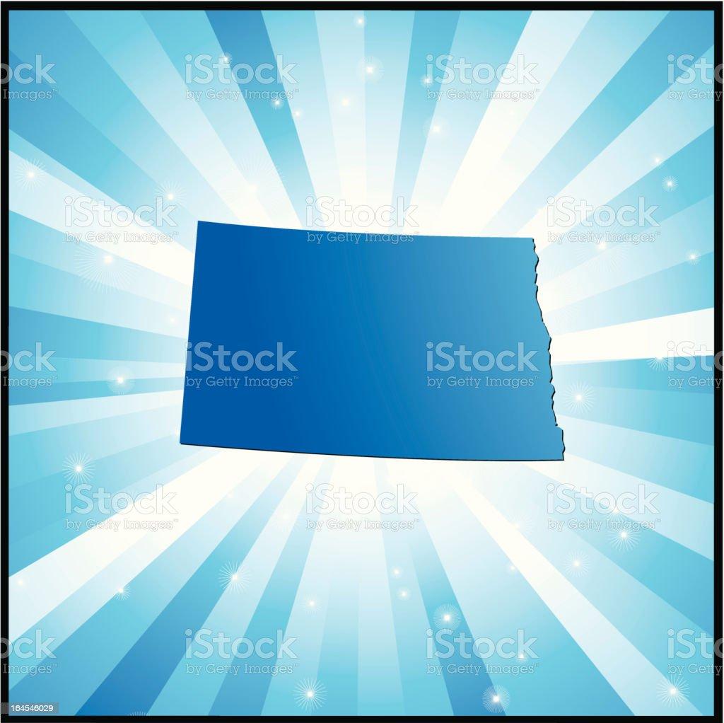 Blue North Dakota royalty-free stock vector art