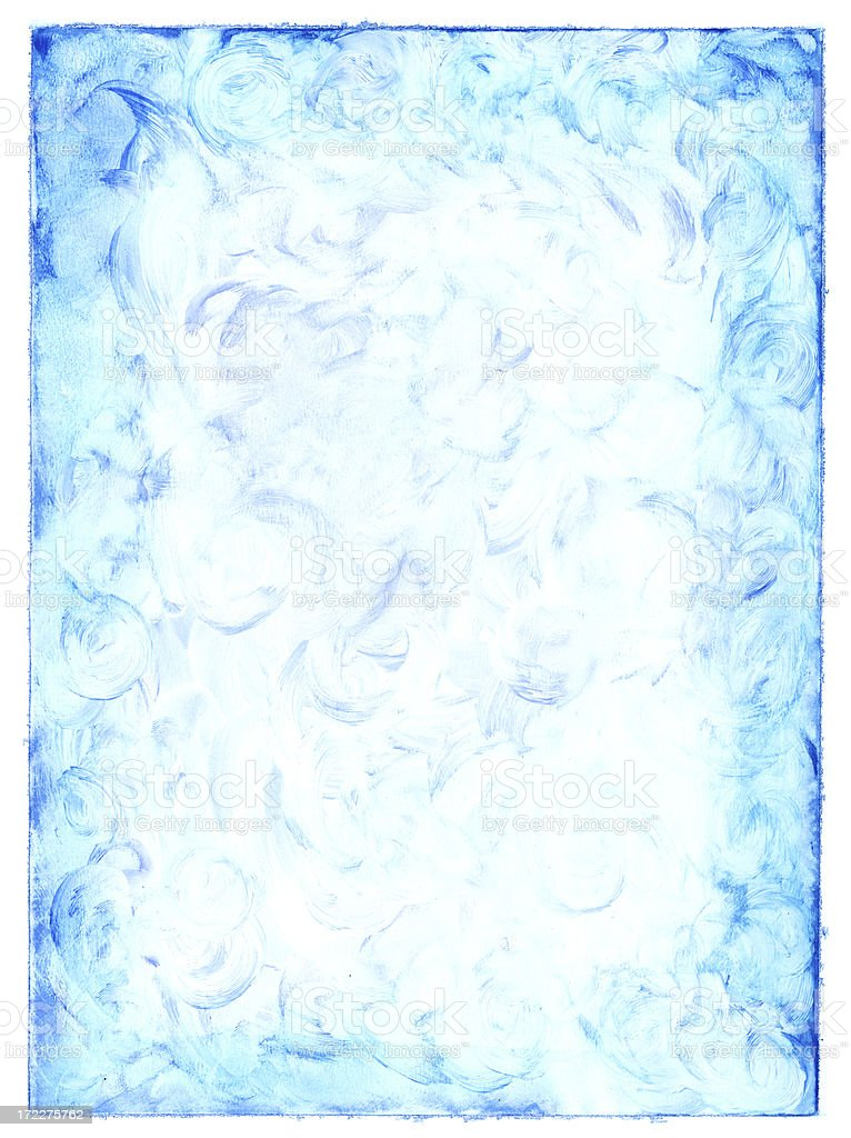 Blue Paint - Aged Paper royalty-free stock vector art