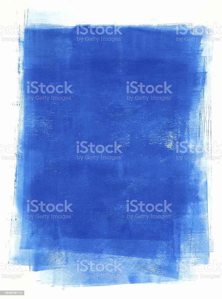 Blue paint vector art illustration