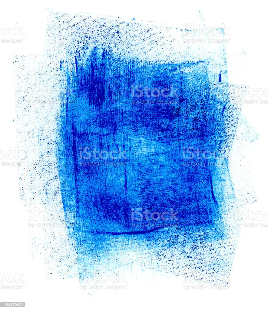 Blue Paint Smudge royalty-free stock vector art