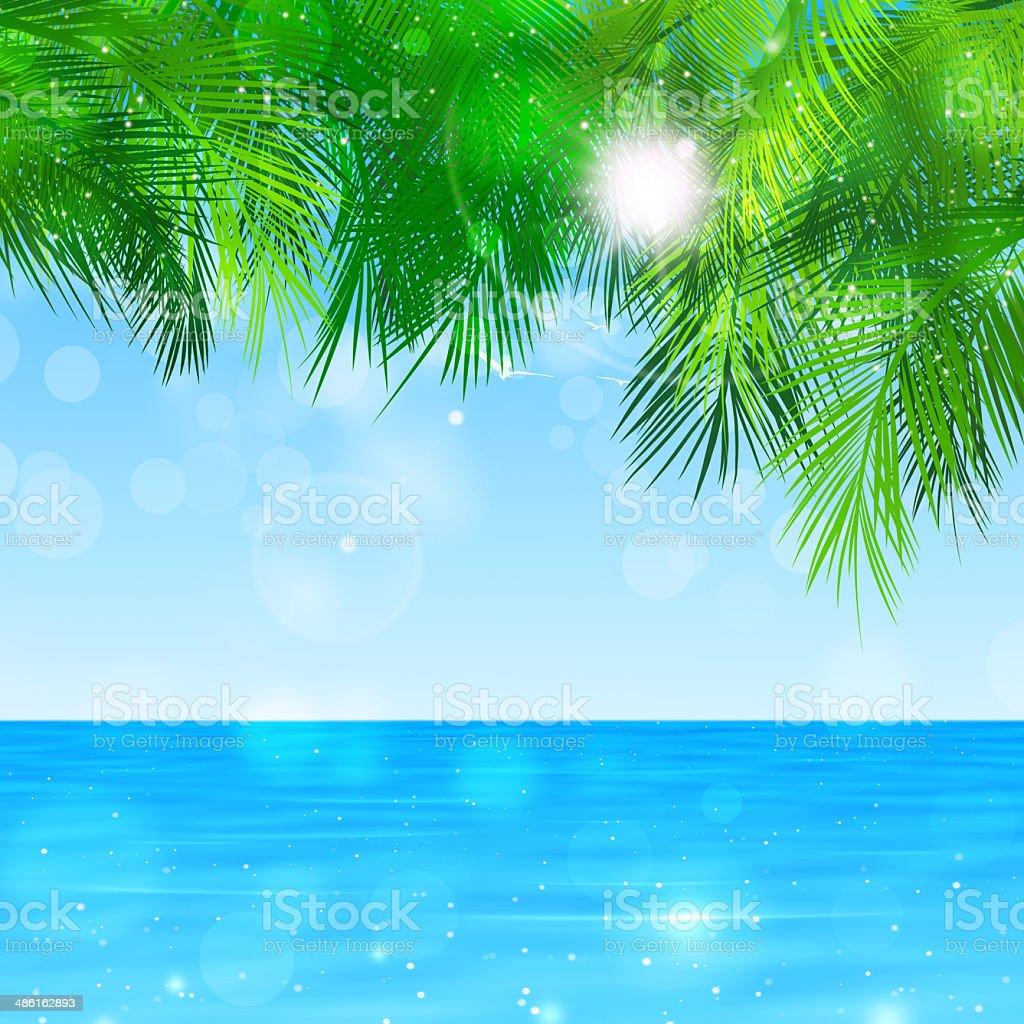 Blue Paradise vector art illustration