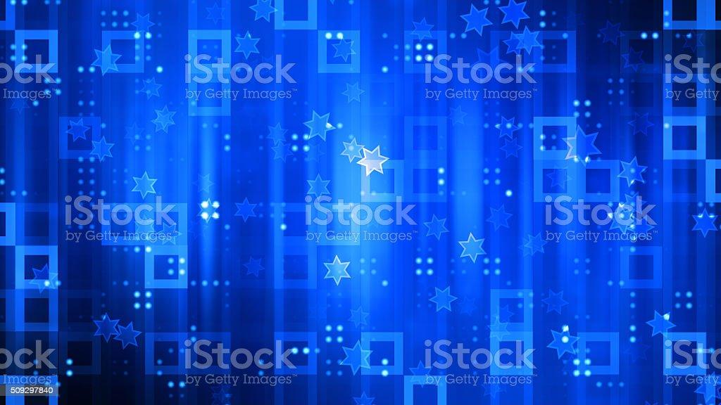 Blue Party Glitters vector art illustration