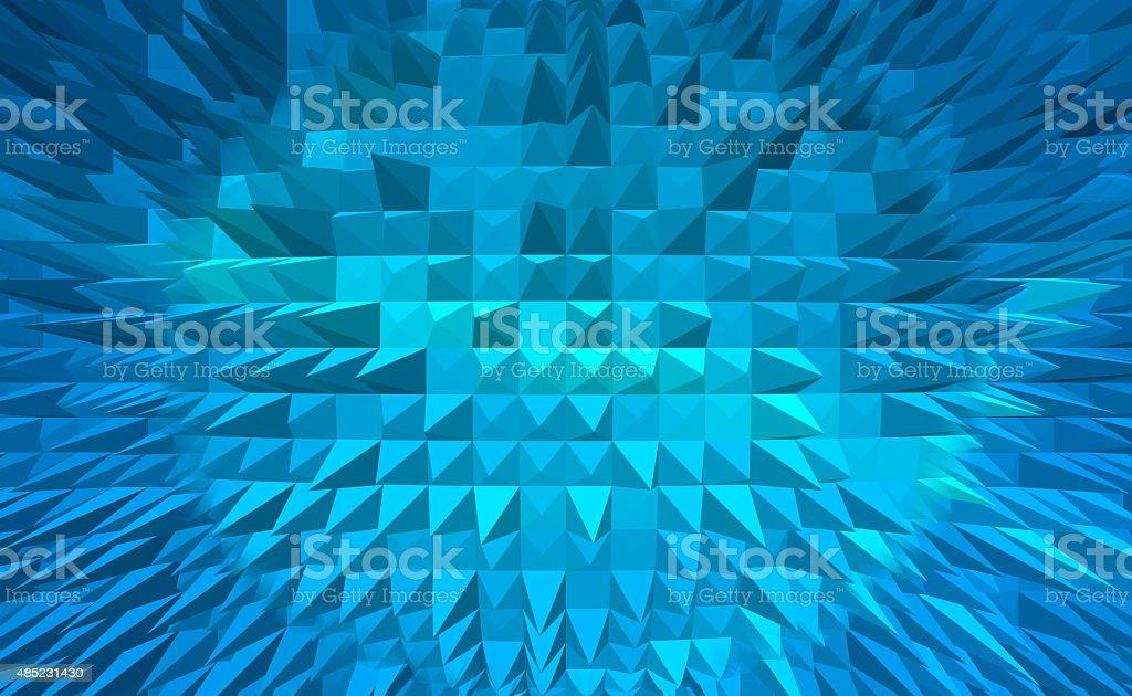 Niebieski Piramida digital tło abstrakcyjne stockowa ilustracja wektorowa royalty-free