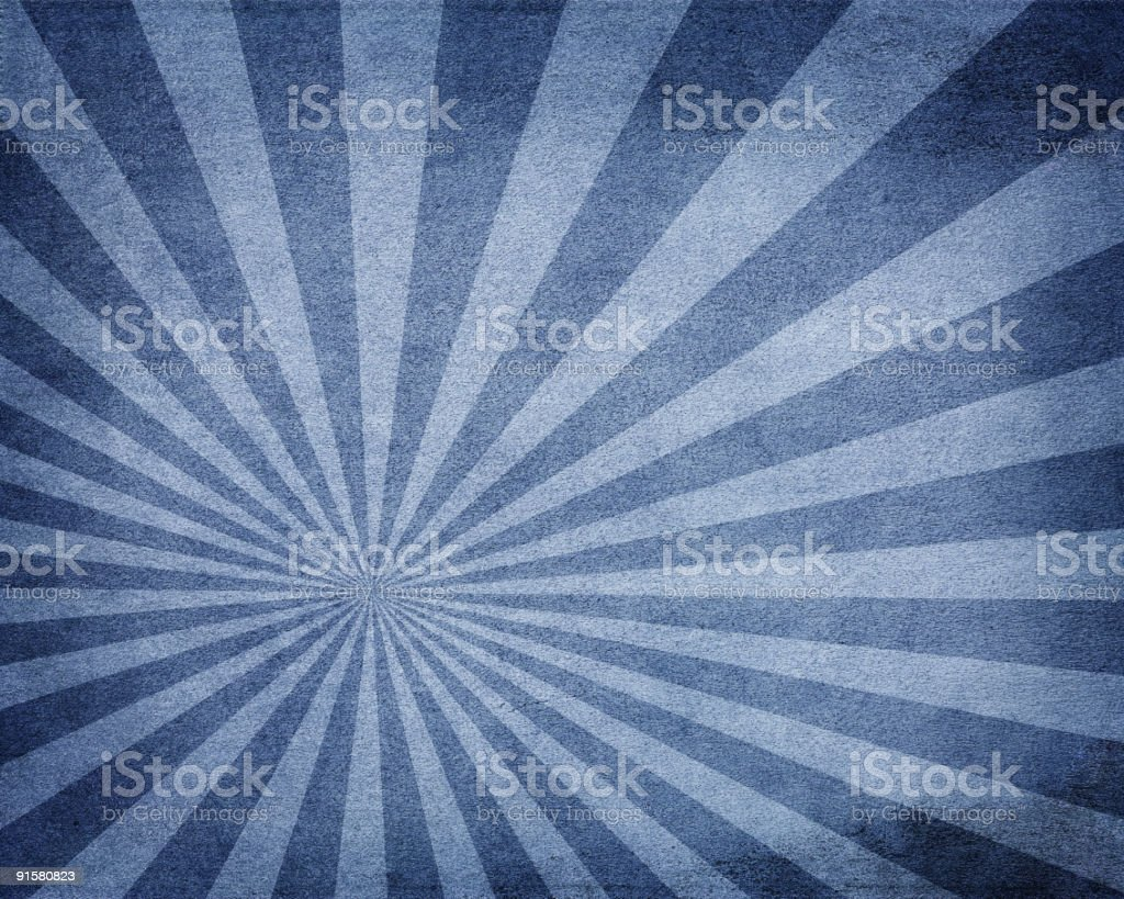 Blue retro sunbeam background royalty-free stock vector art