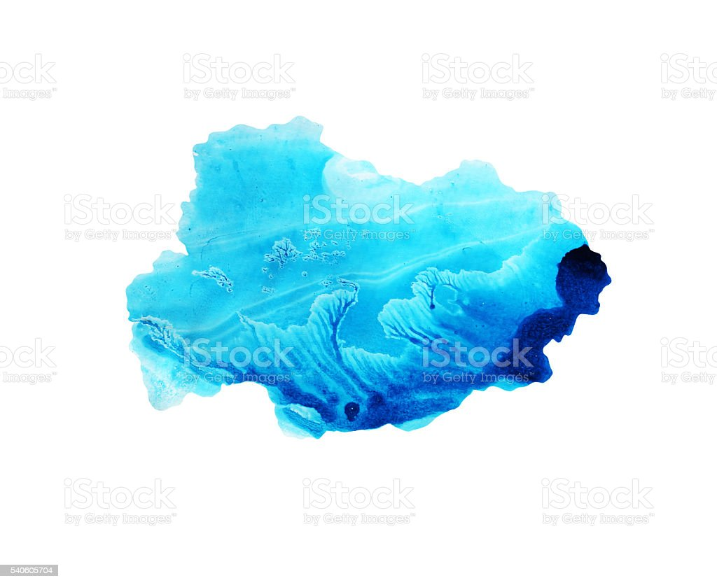 Blue sky watercolor background. stock photo