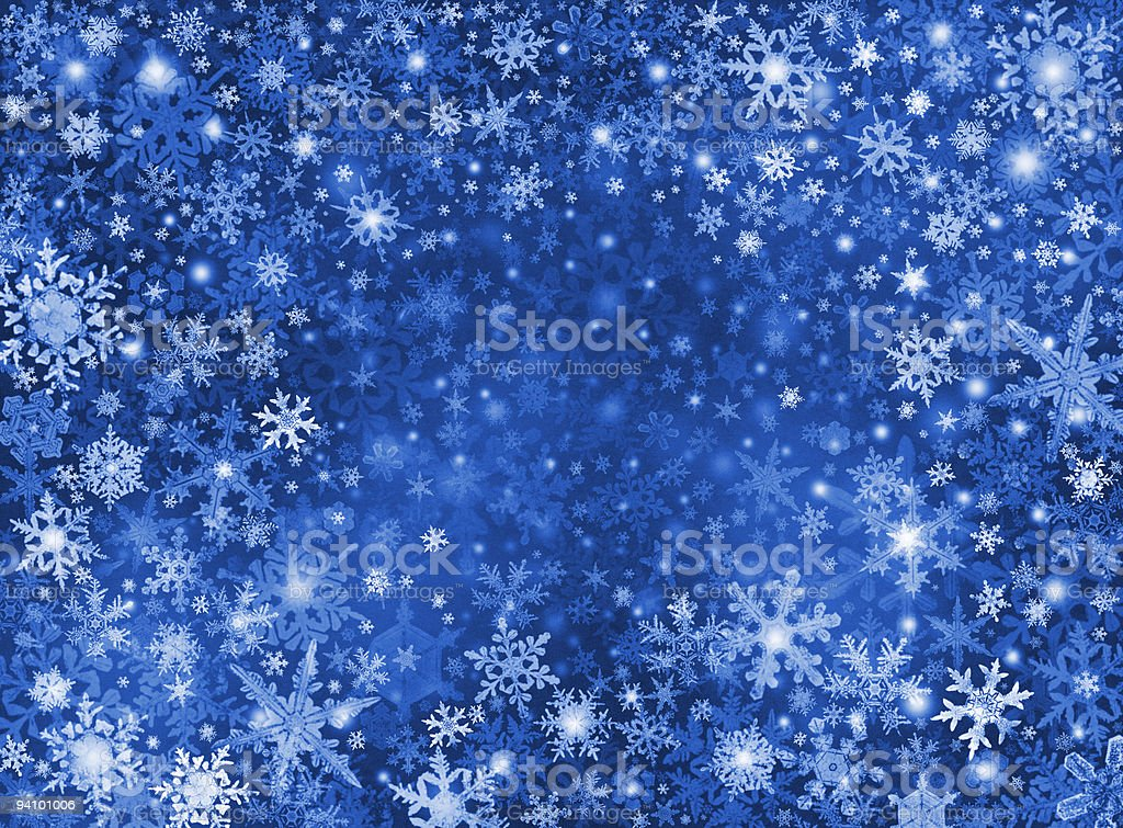 Blue Snow Storm Background royalty-free stock vector art