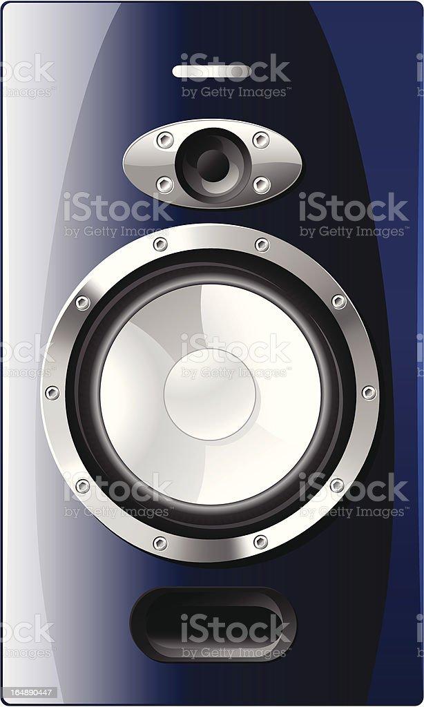 Blue Speaker royalty-free stock vector art