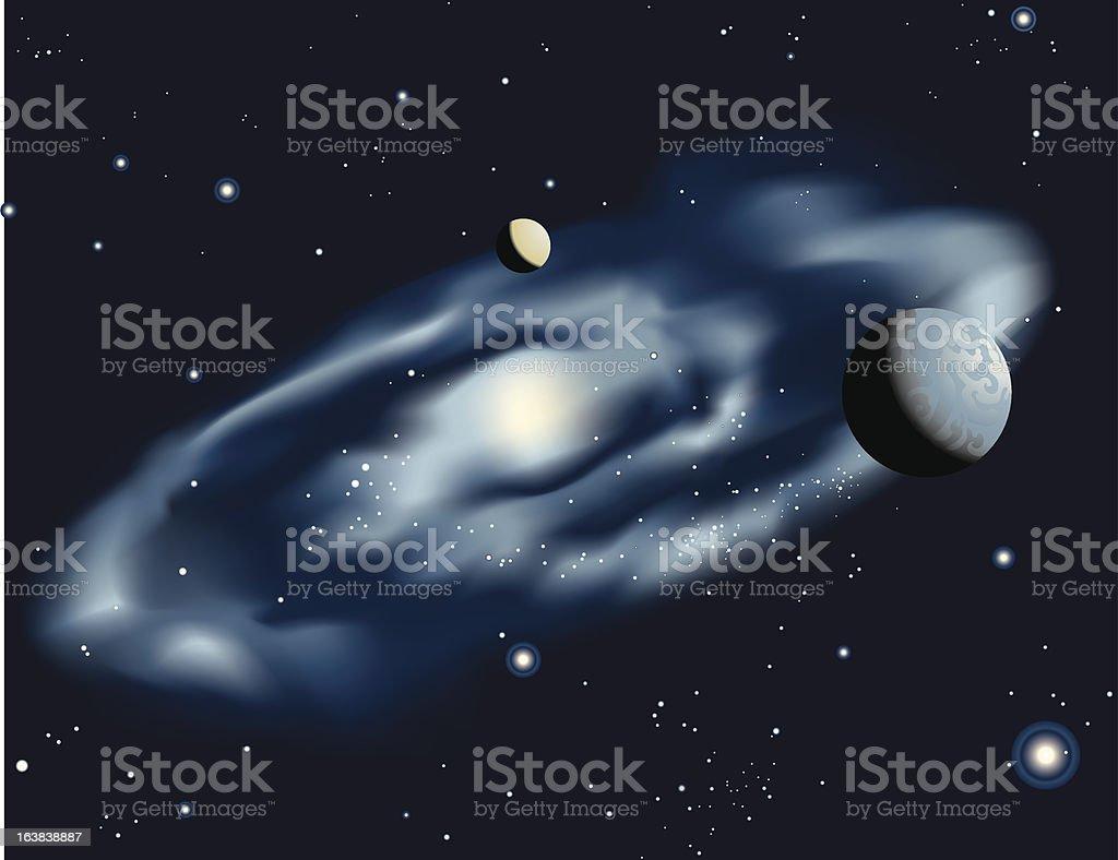 Blue Spiral Galaxy royalty-free stock vector art