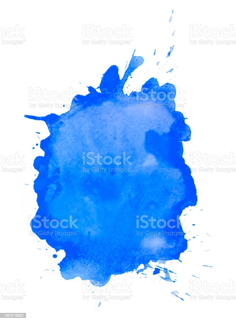 Blue splash of color vector art illustration