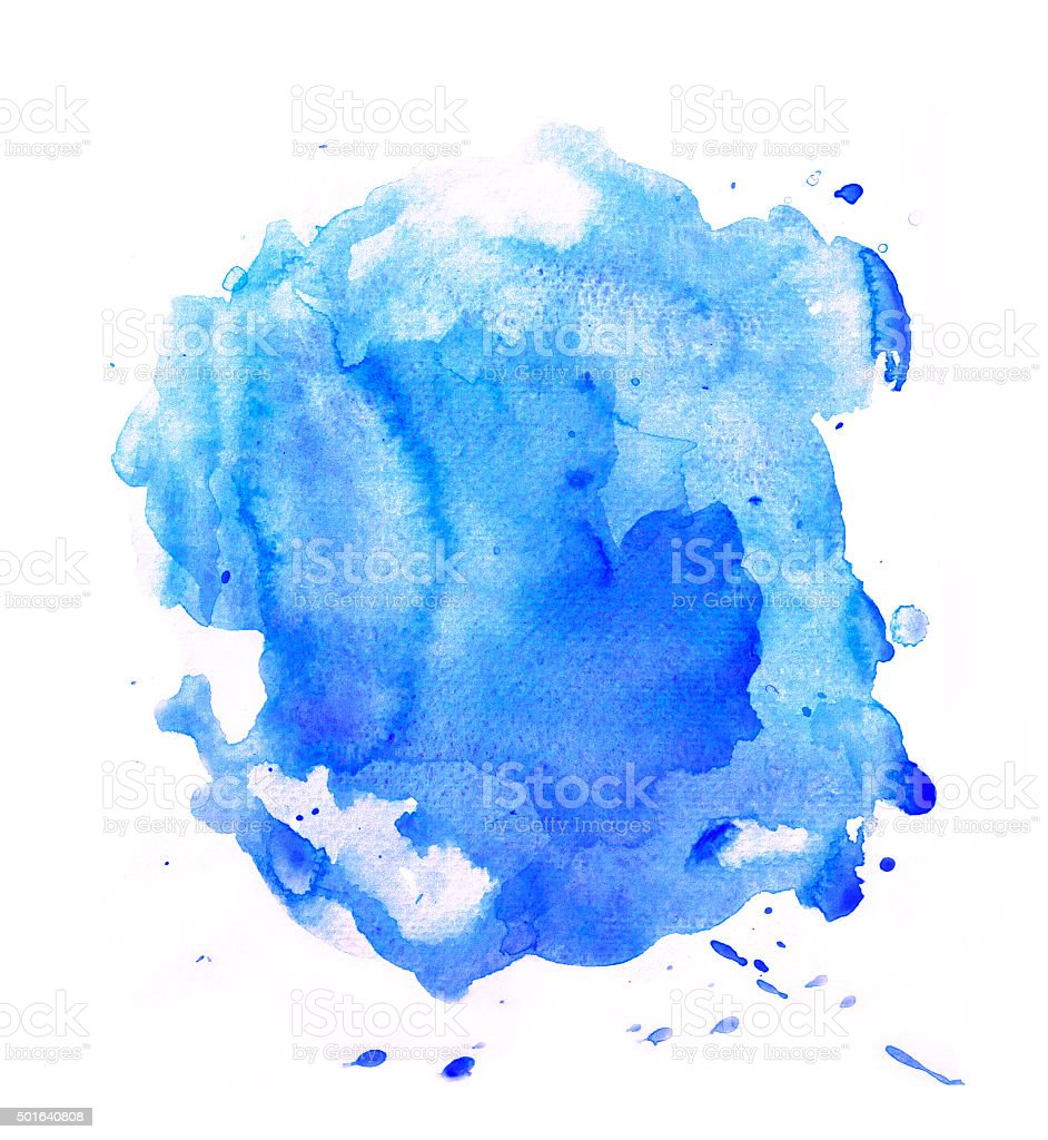 Blue splash of watercolor vector art illustration