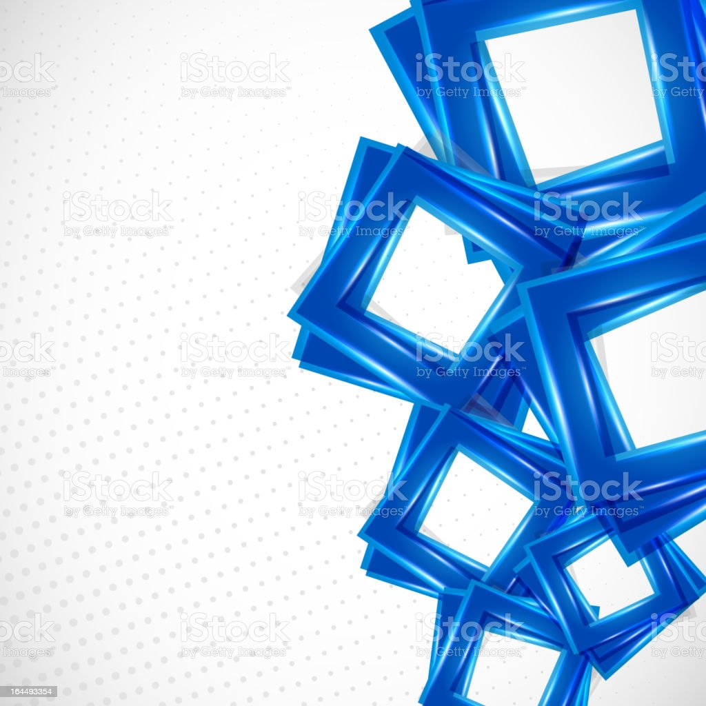 Blue squares background royalty-free stock vector art