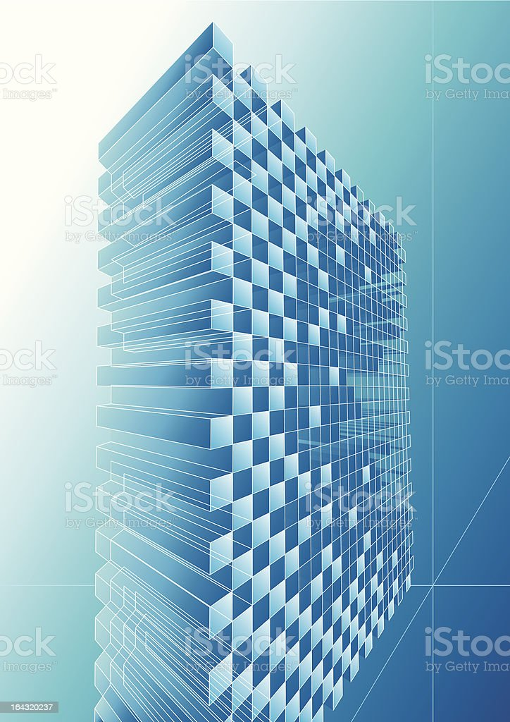 Blue structure abstract royalty-free stock vector art