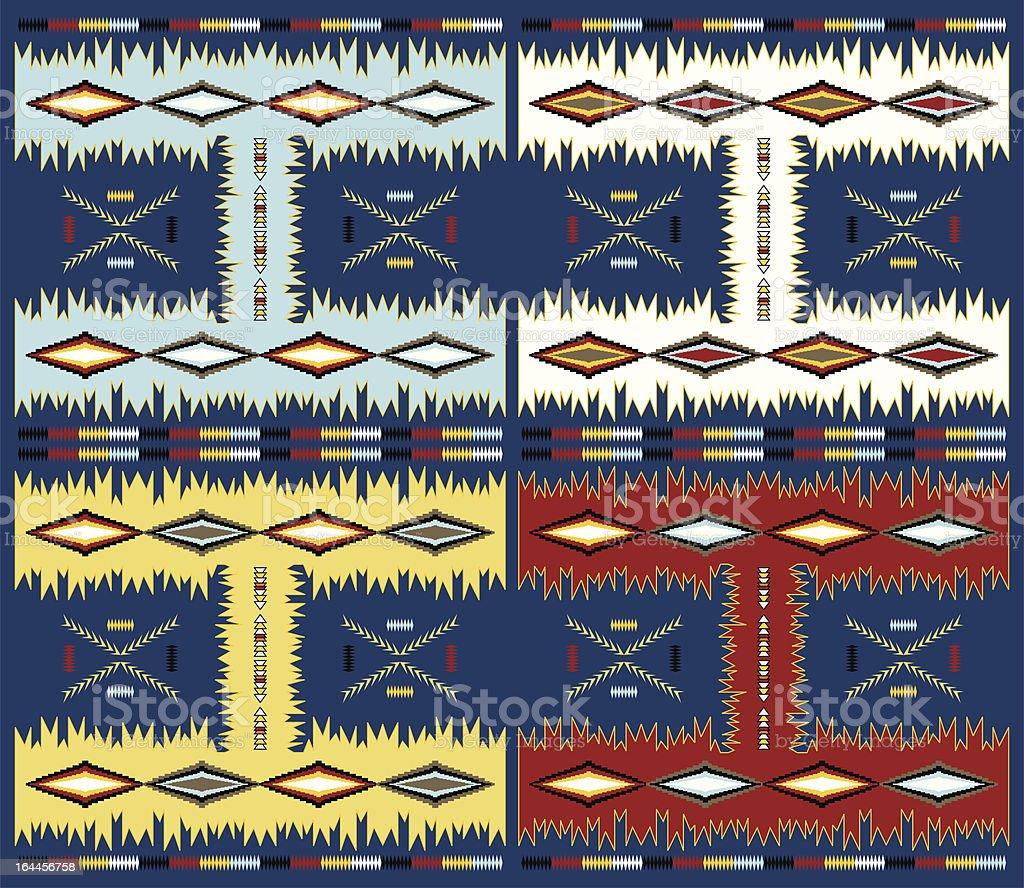 blue theme native american art royalty-free stock vector art