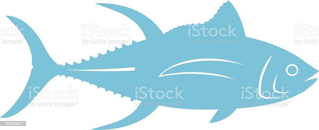 blue tuna vector art illustration
