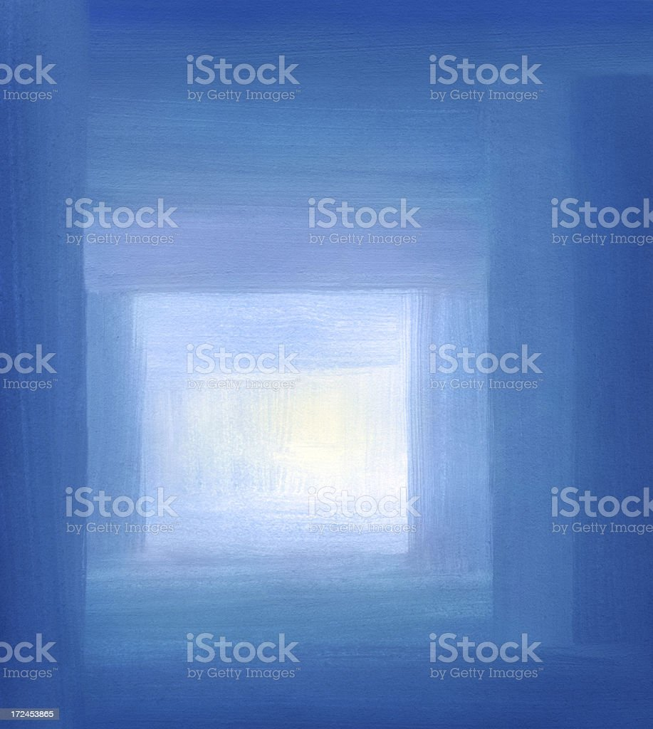 Blue Tunnel royalty-free stock vector art