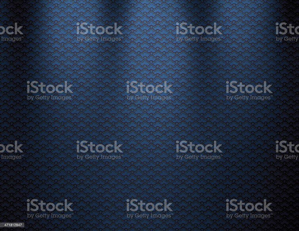 Blue Vintage Wallpaper royalty-free stock vector art