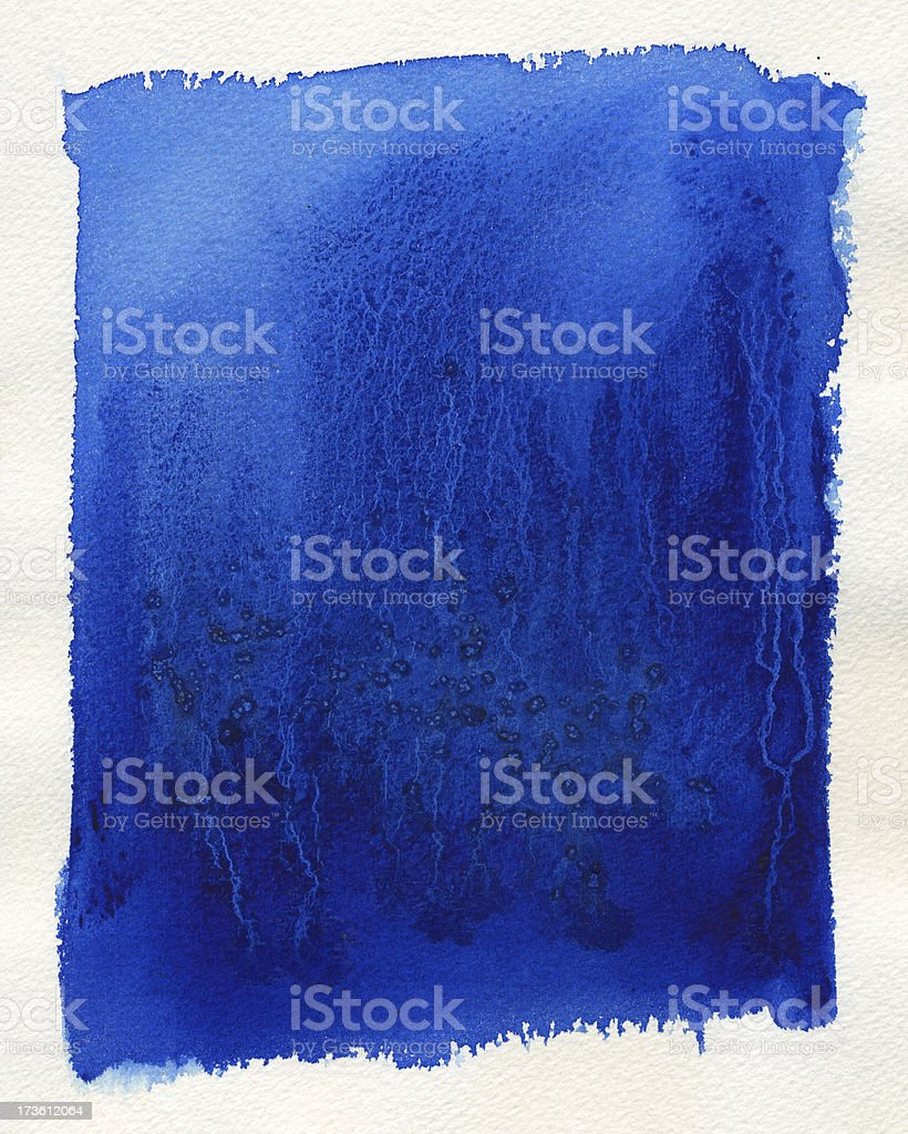 Blue Watercolor Background vector art illustration