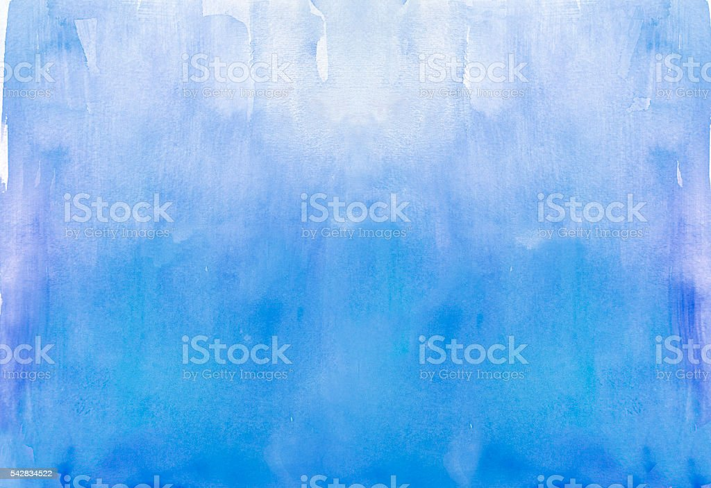 Blue watercolor background vector art illustration