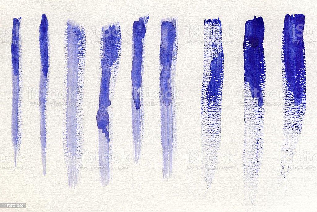 Blue watercolor brush strokes royalty-free stock vector art