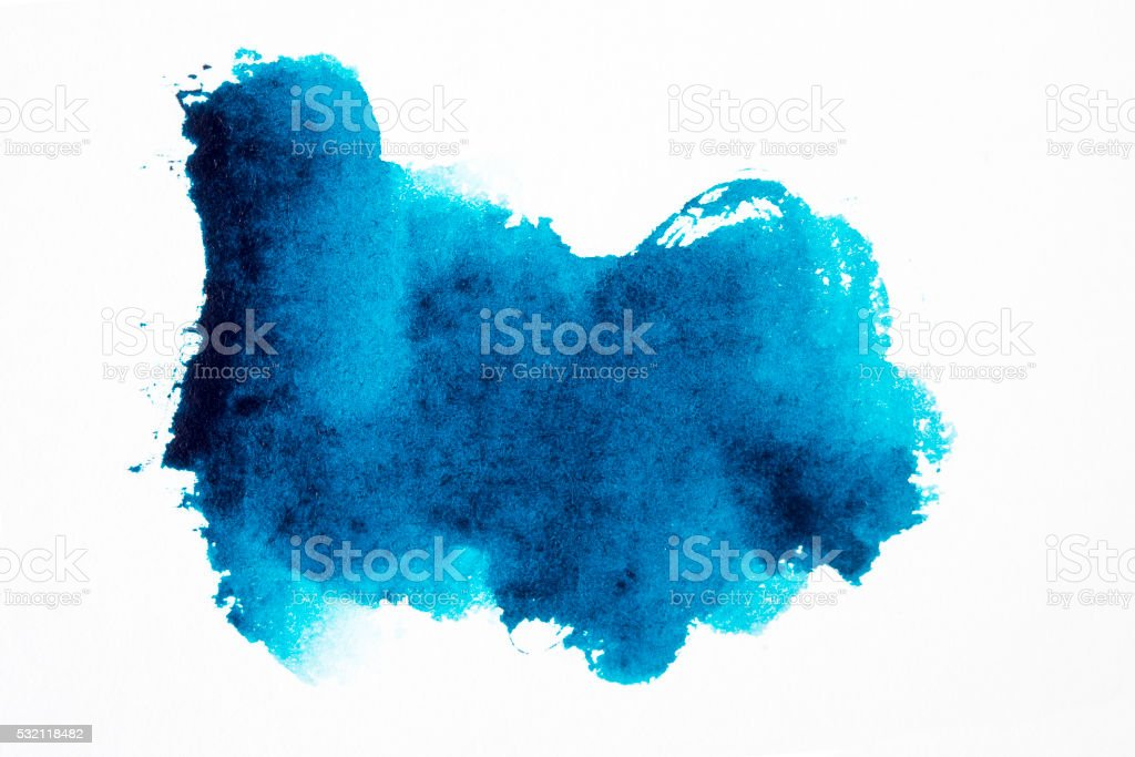 blue watercolor brush strokes vector art illustration