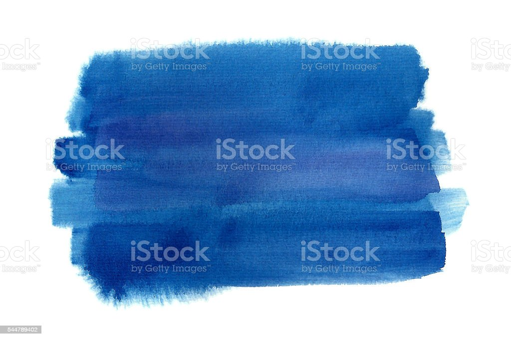 Blue watercolor rectangle vector art illustration