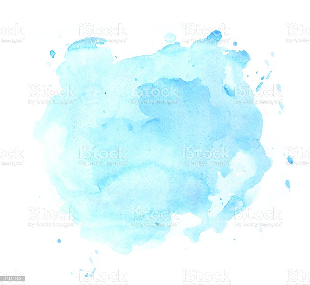Blue watercolor spot vector art illustration