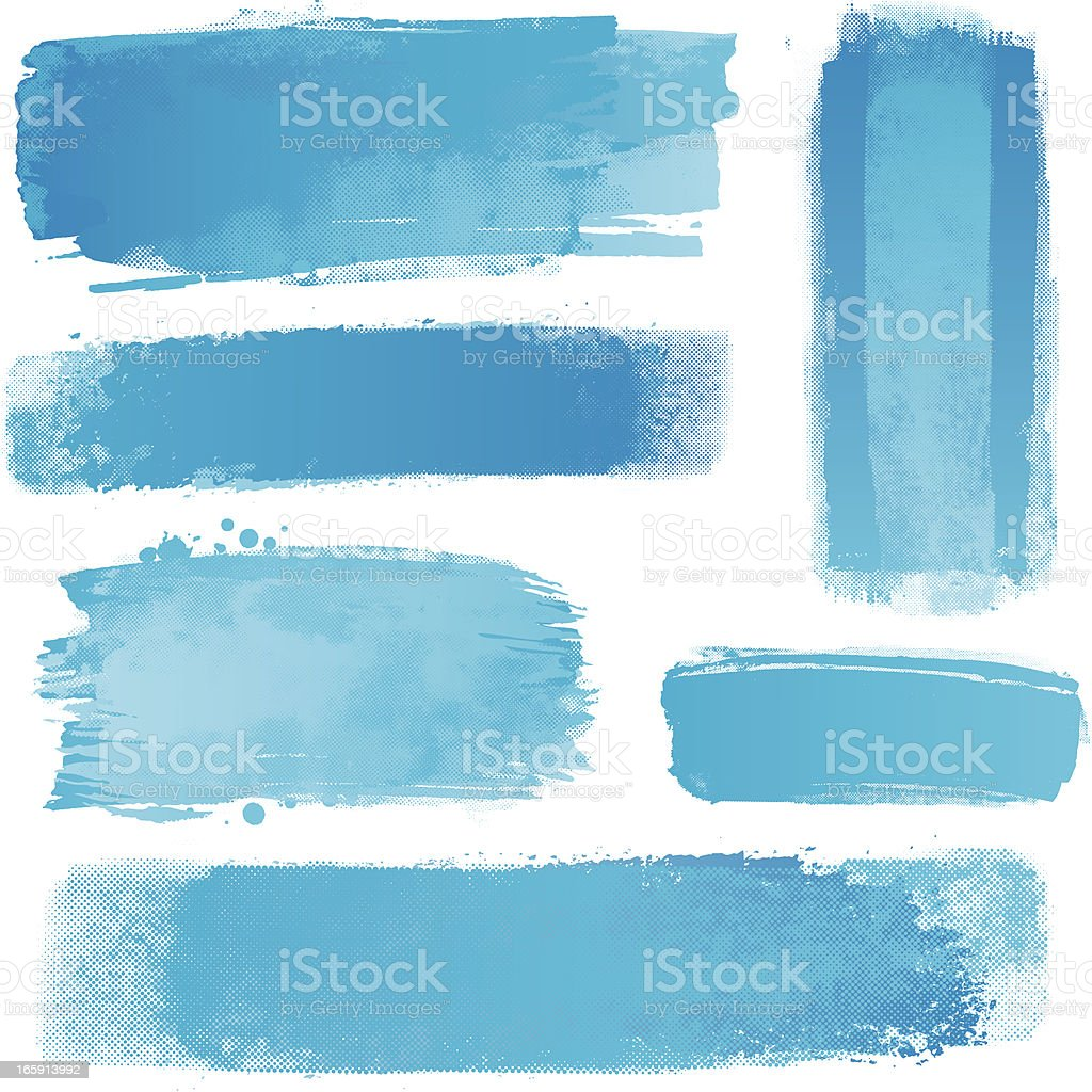 Blue watercolour strips royalty-free stock vector art