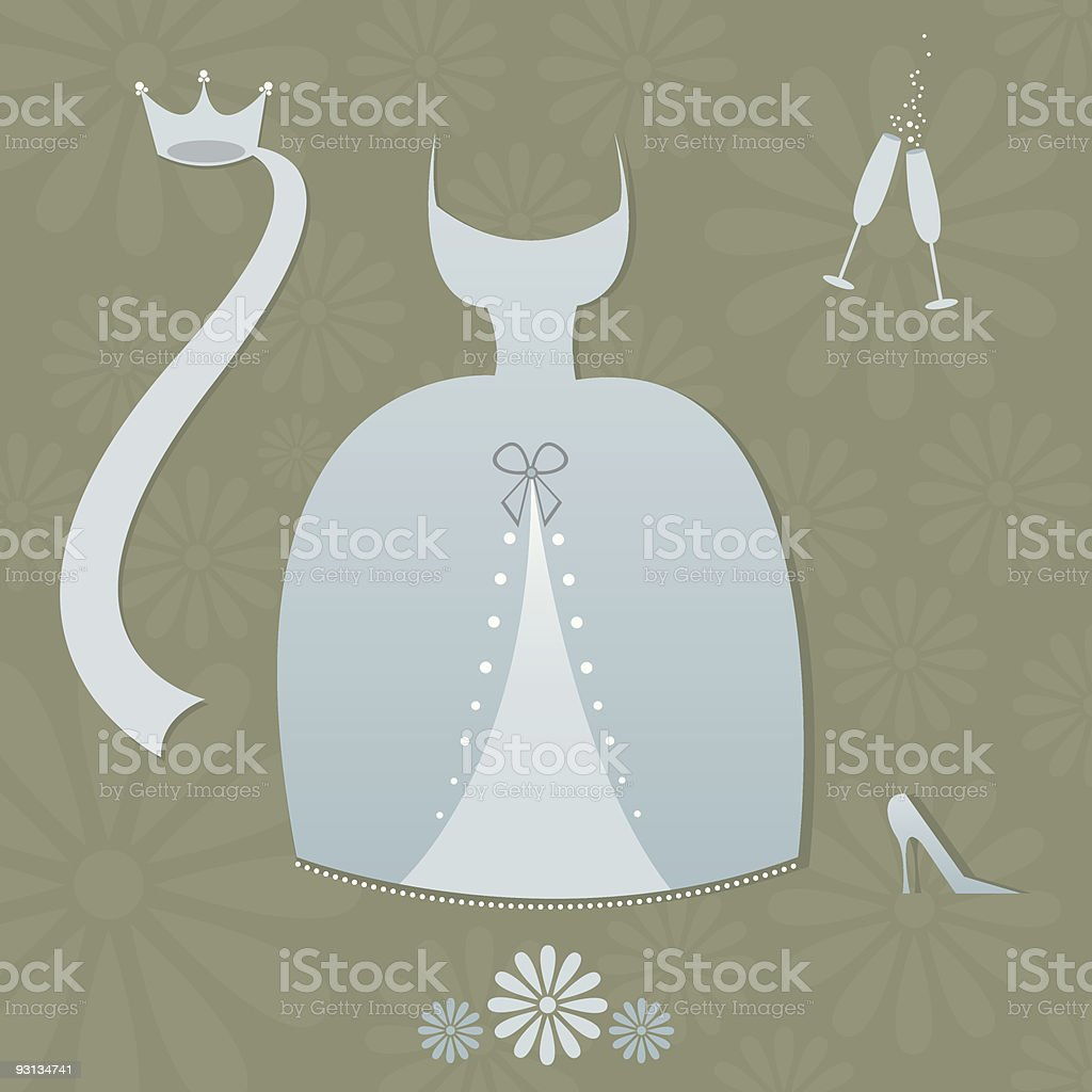Blue Wedding Items royalty-free stock vector art